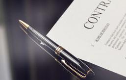 Erhvervsadvokat kontrakt på papir