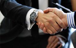 Erhvervsadvokat håndtryk