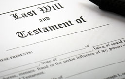 Privat advokat, testamente